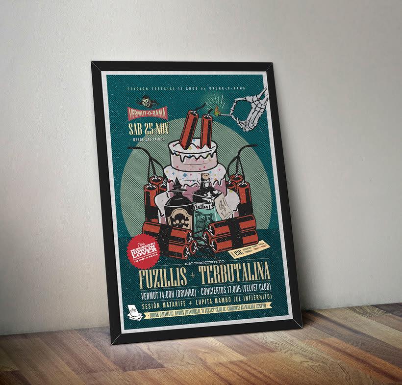 FUZILLIS + TERBUTALINA + 11 ANIVERSARIO DE DRUNK-O-RAMA - Vermut-O-Rama poster 4