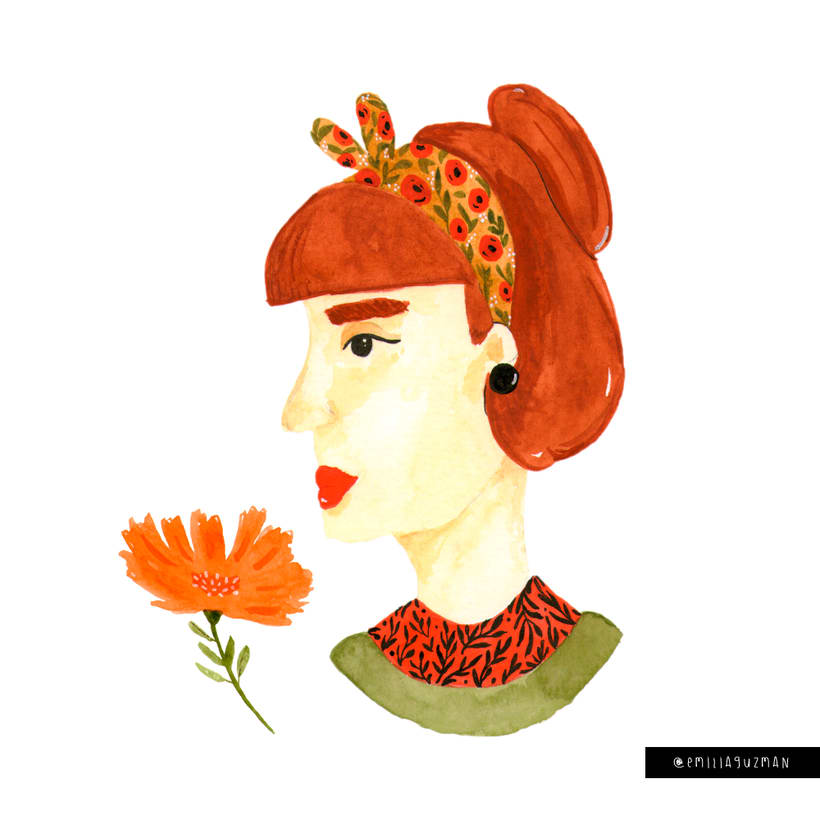 Ilustración/pattern - Análoga Mujer -1