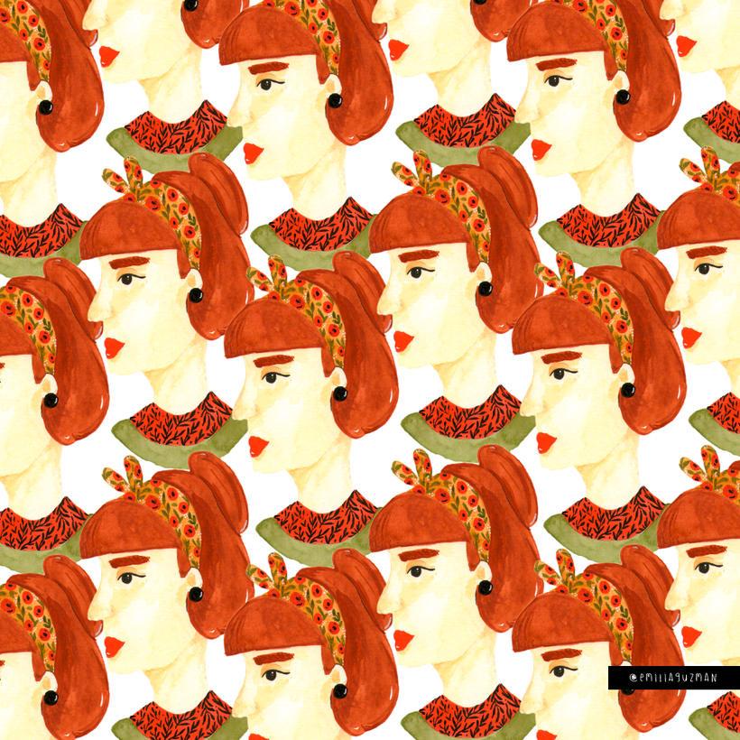 Ilustración/pattern - Análoga Mujer 0