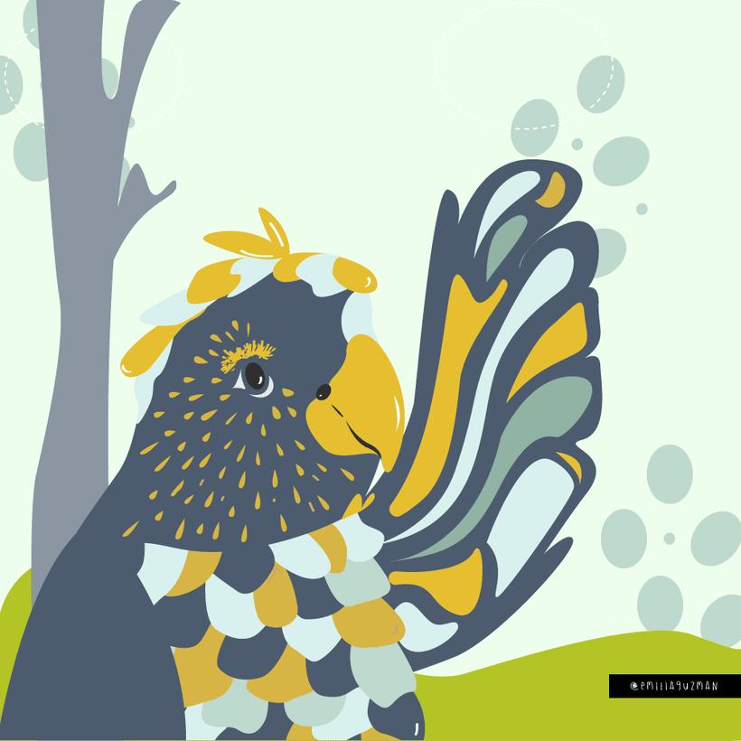 Ilustración Infantil - Pájaro Morxi -1