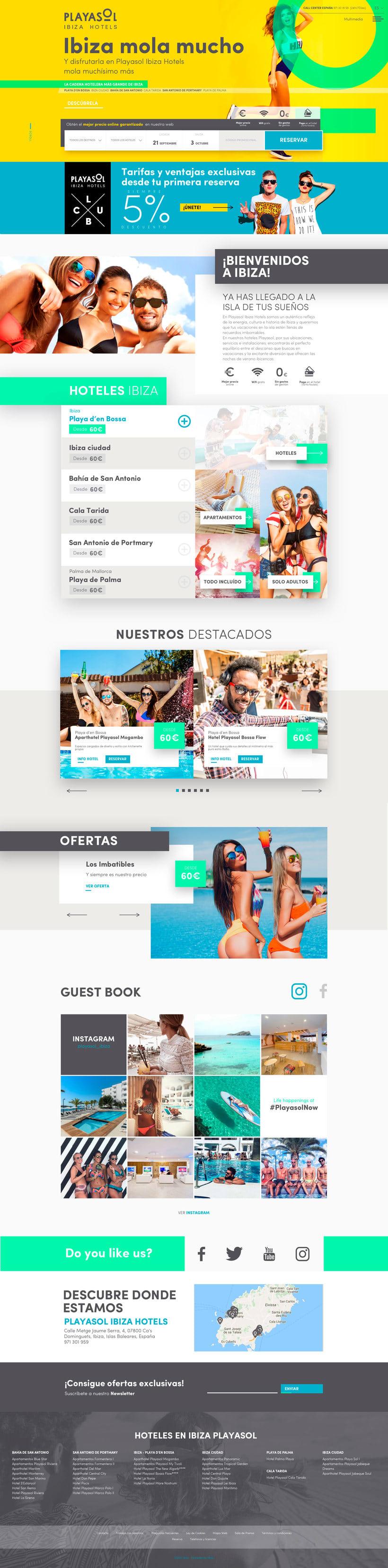 Web Playasol Ibiza Hotels  0