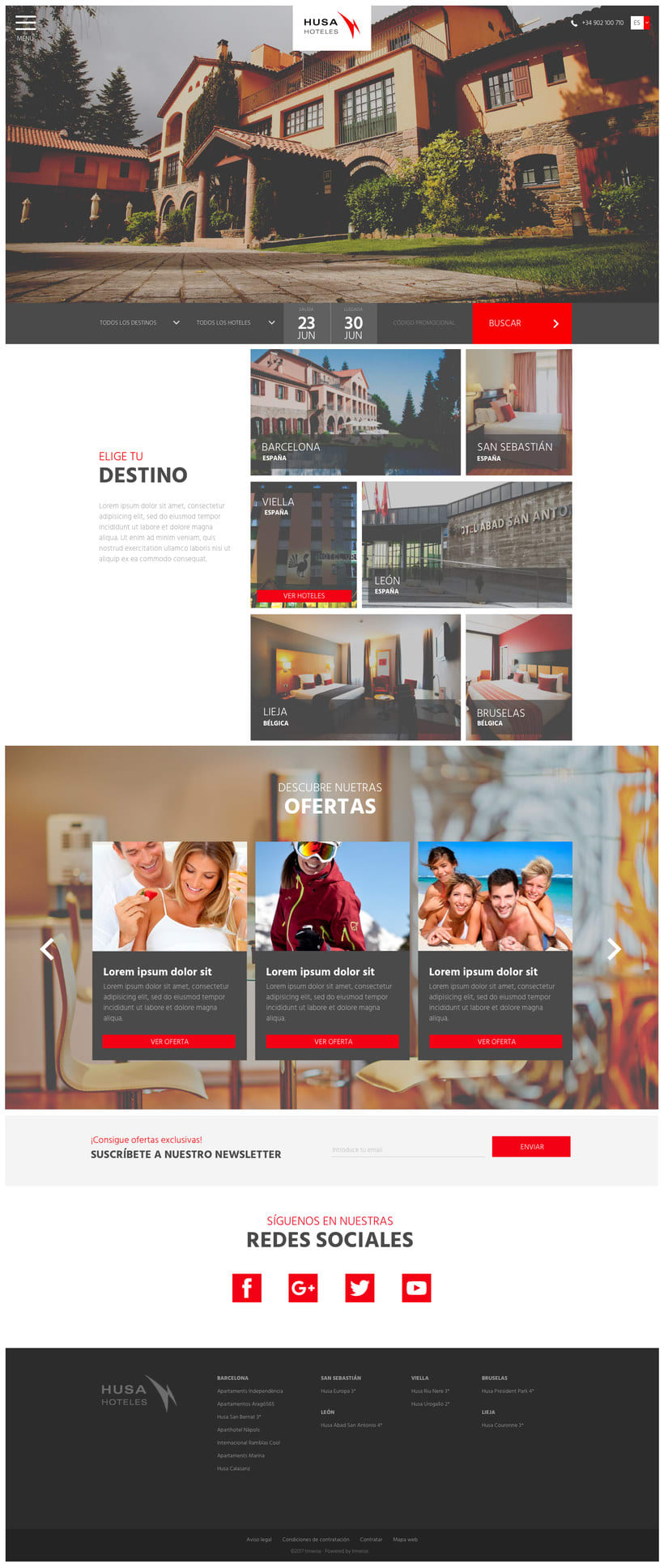 Web Husa Hoteles 0