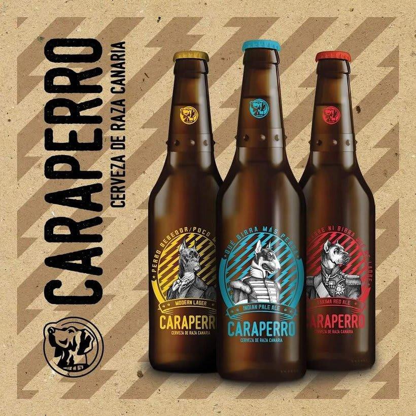 CARAPERRO, Ilustraciones con técnica tradicional encargadas por La Escalera de Fumio para CARAPERRO, nueva campaña de Cerveza Tropical.   -1