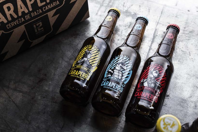 CARAPERRO, Ilustraciones con técnica tradicional encargadas por La Escalera de Fumio para CARAPERRO, nueva campaña de Cerveza Tropical.   0