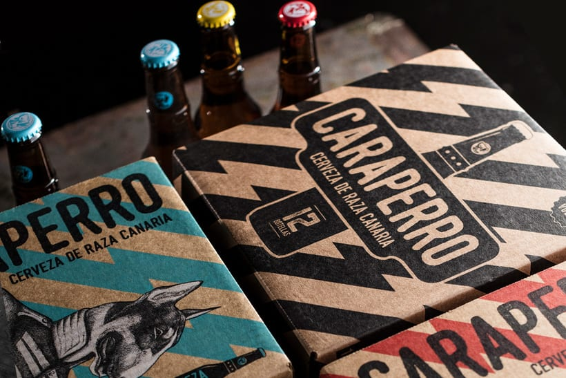 CARAPERRO, Ilustraciones con técnica tradicional encargadas por La Escalera de Fumio para CARAPERRO, nueva campaña de Cerveza Tropical.   1