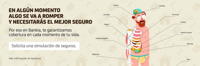 Ilustraciones para campaña de seguros de Bankia.  13