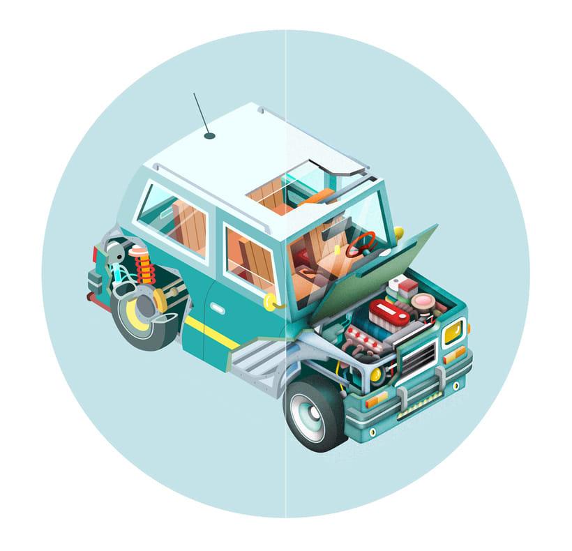 Ilustraciones para campaña de seguros de Bankia.  4