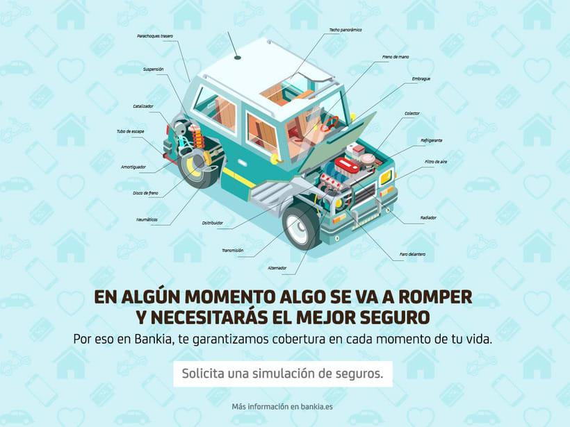 Ilustraciones para campaña de seguros de Bankia.  14