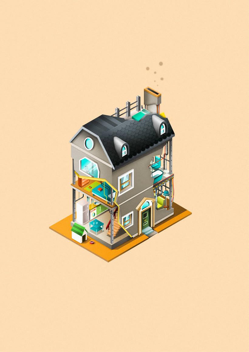 Ilustraciones para campaña de seguros de Bankia.  11