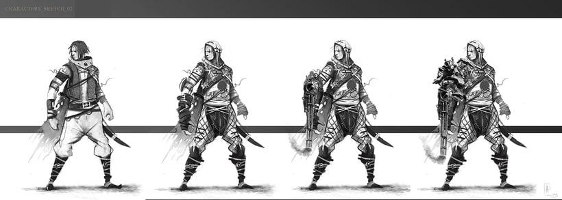 creación de personajes: boceto y acabado -1