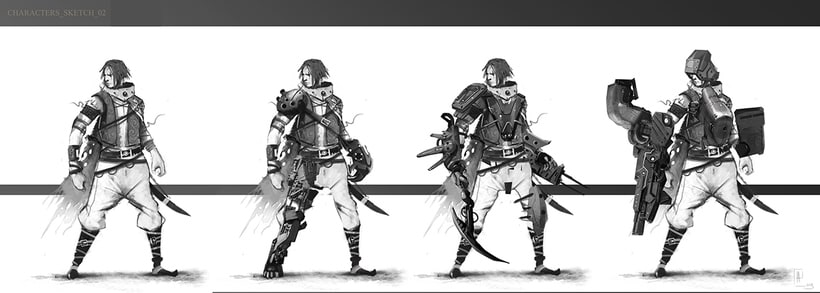 creación de personajes: boceto y acabado 0