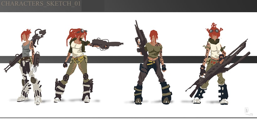 creación de personajes: boceto y acabado 1