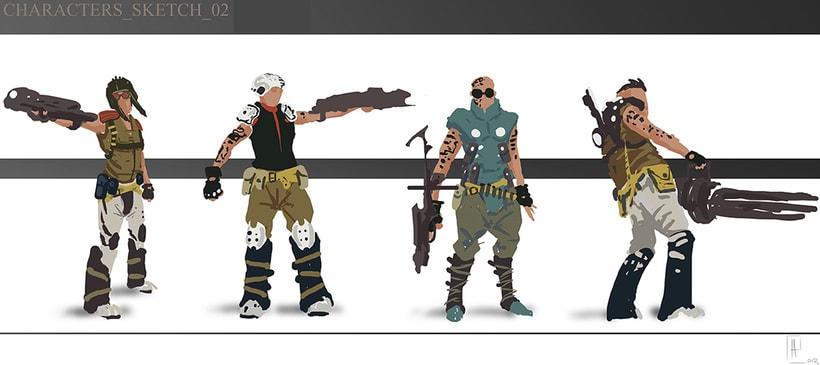 creación de personajes: boceto y acabado 2