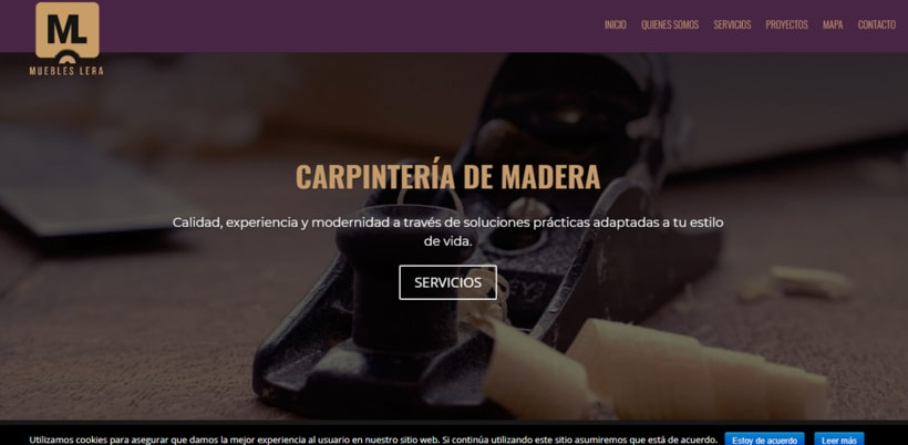WEBSITE. Muebles Lera. -1