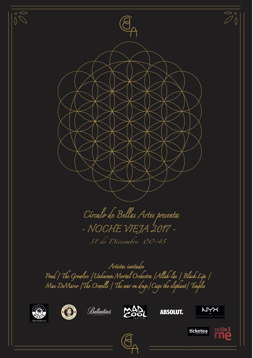 Cartel noche vieja Círculo de bellas artes 0