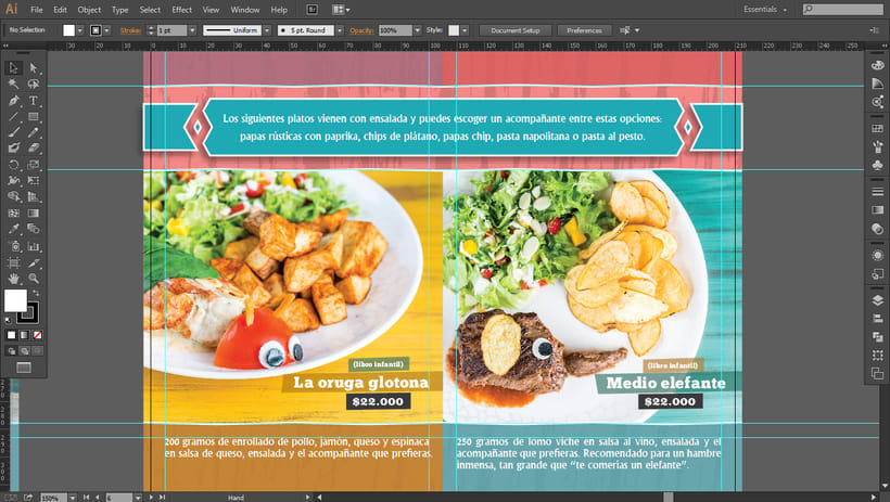 Carta de comidas / Restaurante-Taller El Globo 2