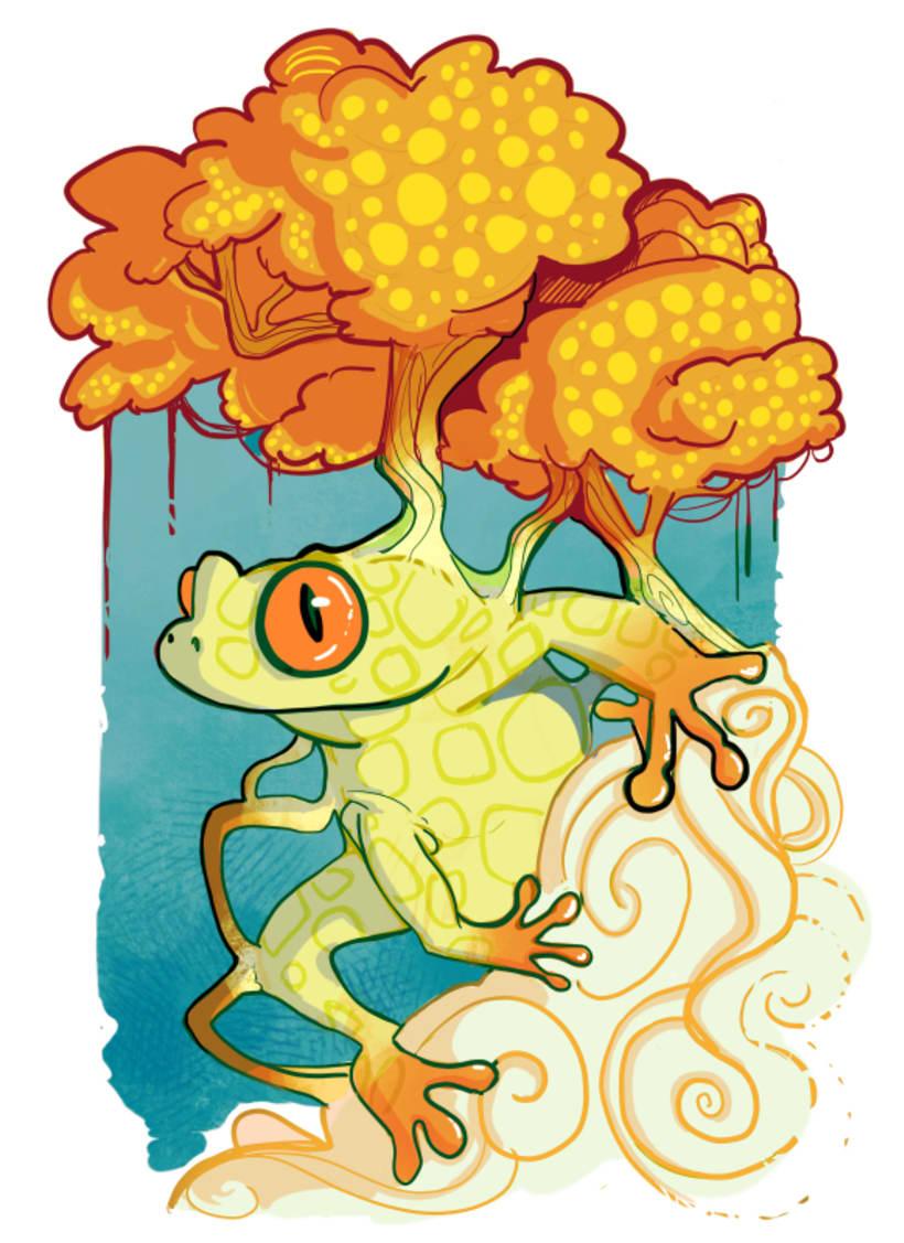 Autumn Tree Frog -1