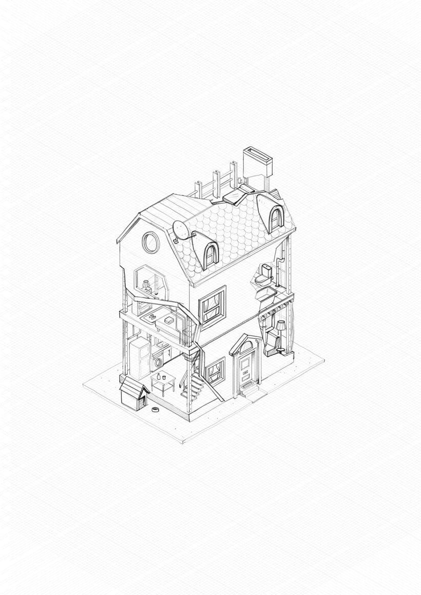 Ilustraciones para campaña de seguros de Bankia.  12