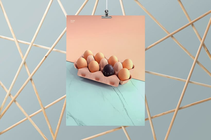 El huevo como musa del diseño 3D 6