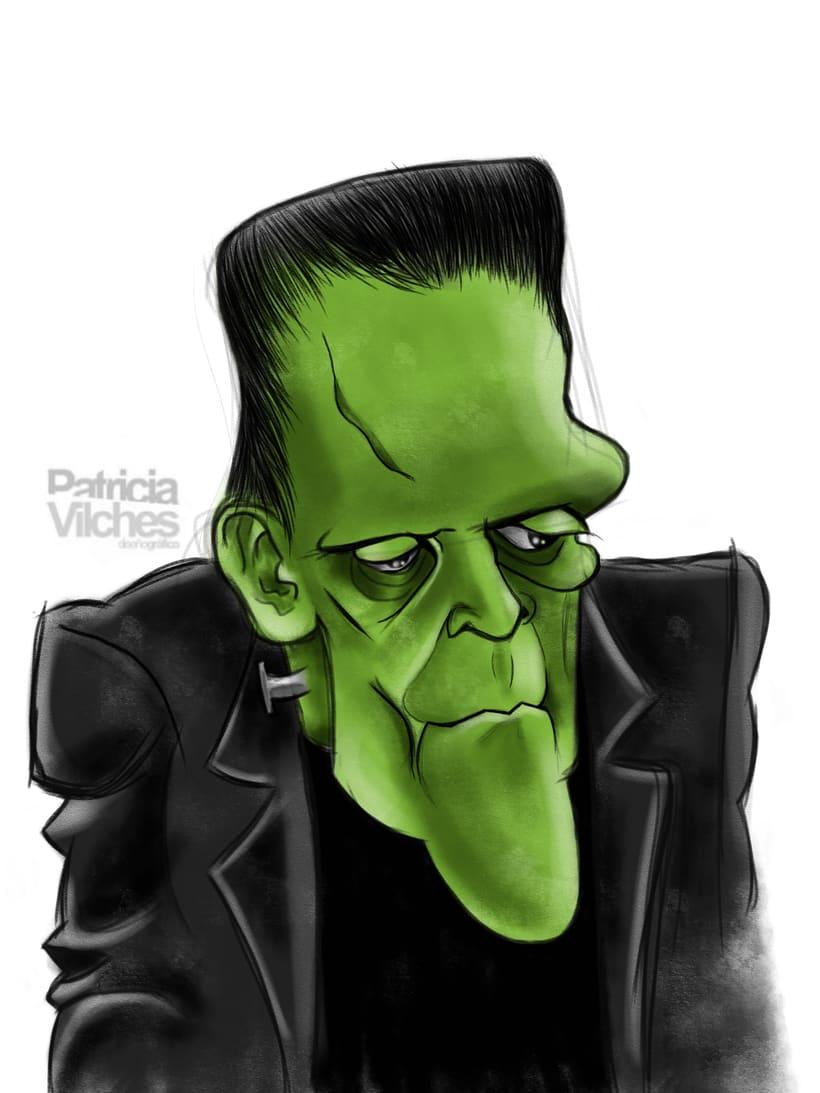 Ilustración Frankenstein -1