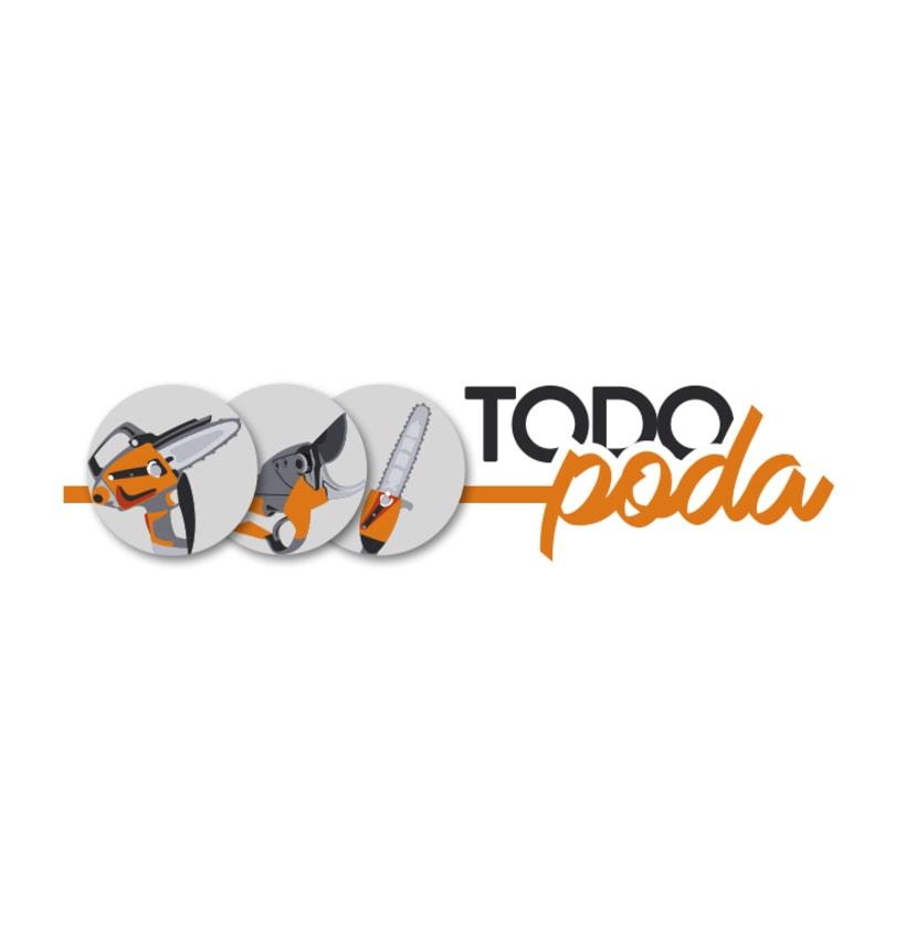 Logotipo y Papelería Todopoda 0