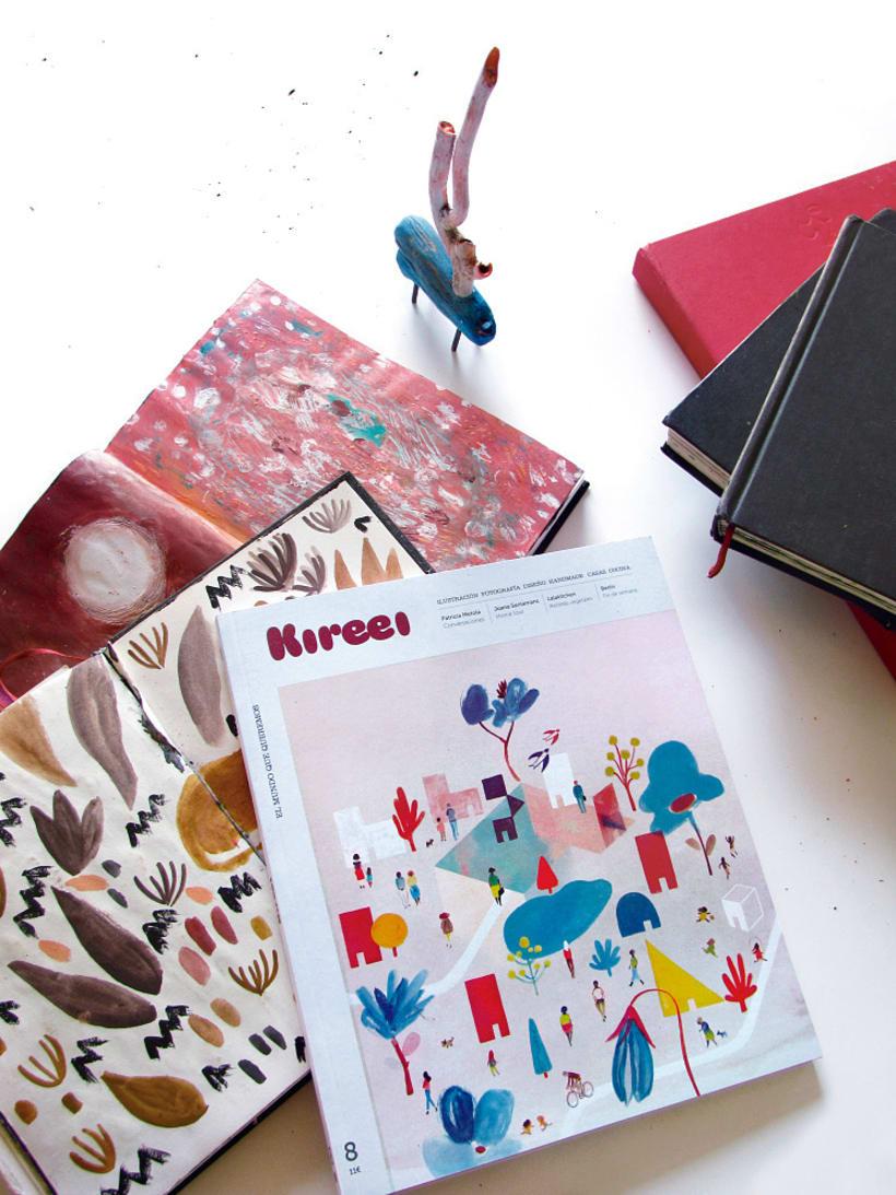 Ilustración portada revista Kireei 1