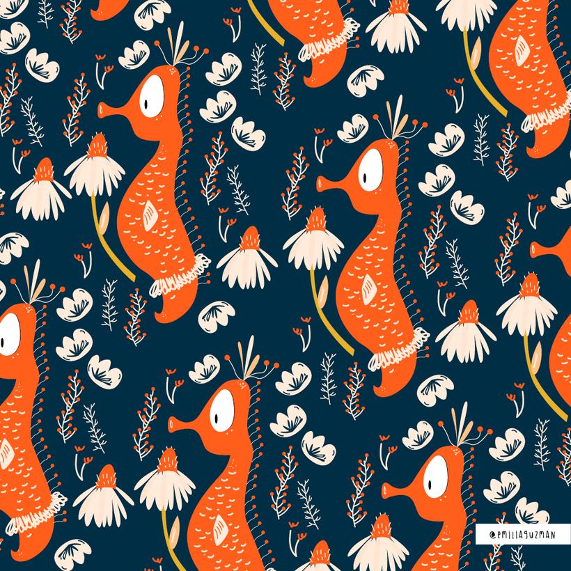 Pattern Caballo de Mar -1