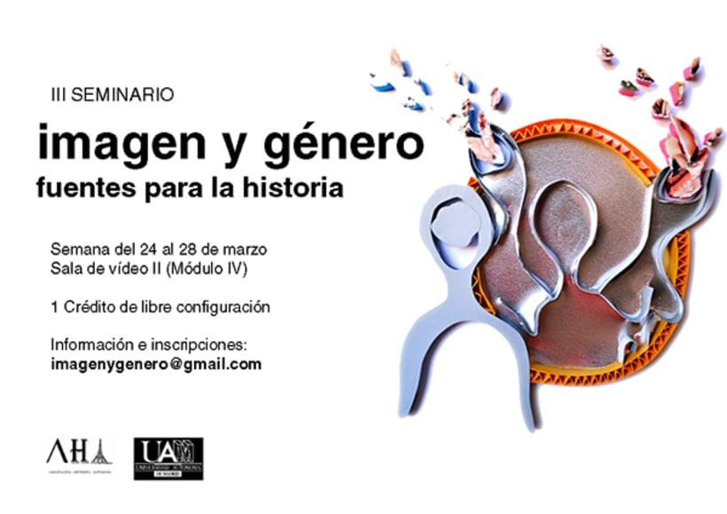 Cartel Jornadas Imagen y Género | Universidad Autónoma de Madrid -1