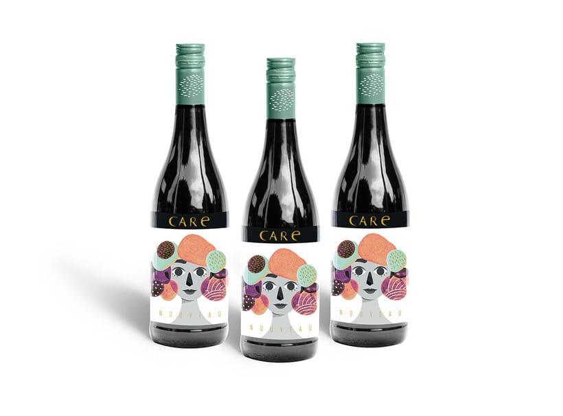 Care Nouveau - Wine Label 3