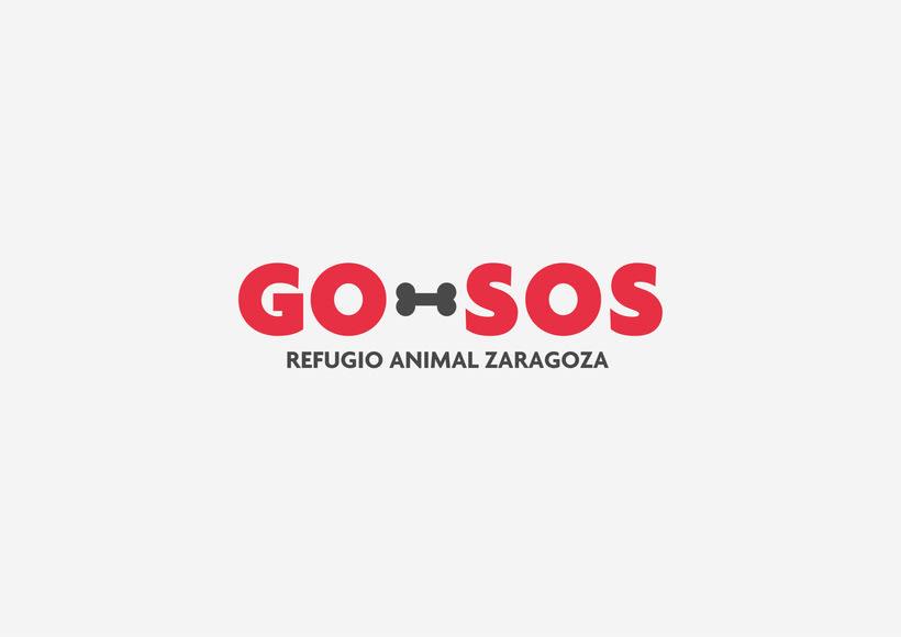 GO-SOS / Refugio Animal Zaragoza / Branding 0