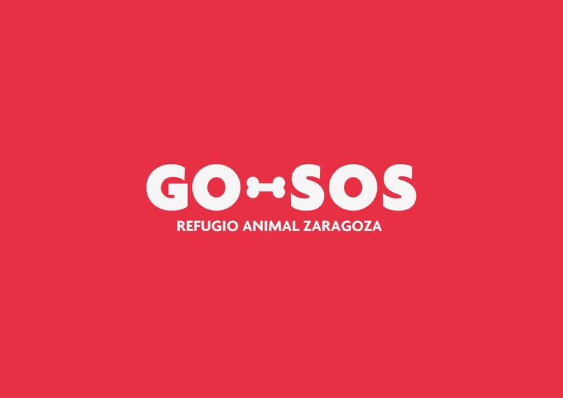 GO-SOS / Refugio Animal Zaragoza / Branding 1