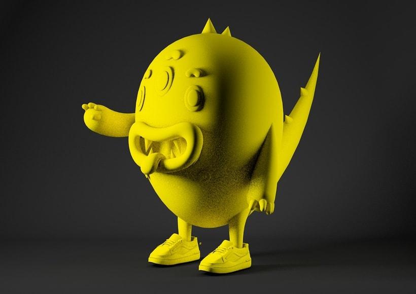 Diseño de personaje en 3D e integración del mismo en una foto de @coudlain 2