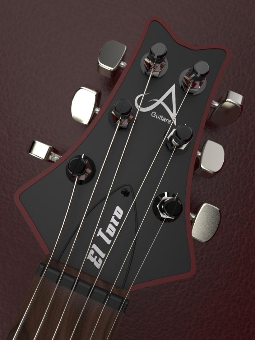 """Diseño original de guitarra """"El Toro"""" 3"""