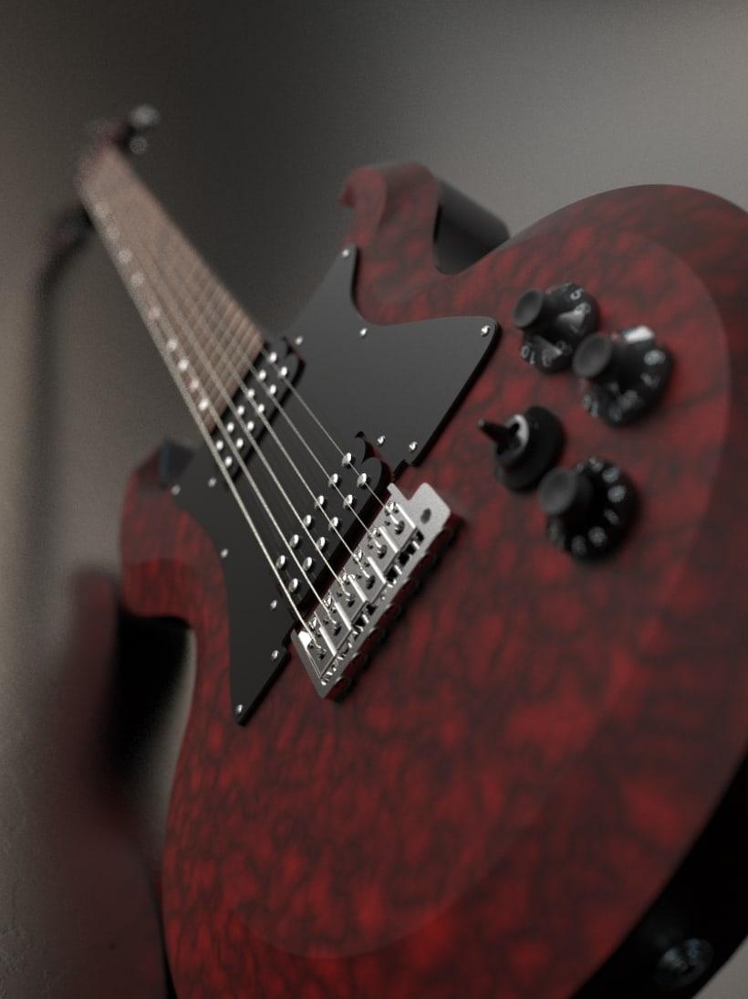 """Diseño original de guitarra """"El Toro"""" 4"""