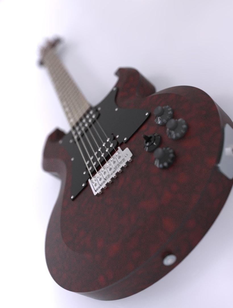 """Diseño original de guitarra """"El Toro"""" 1"""