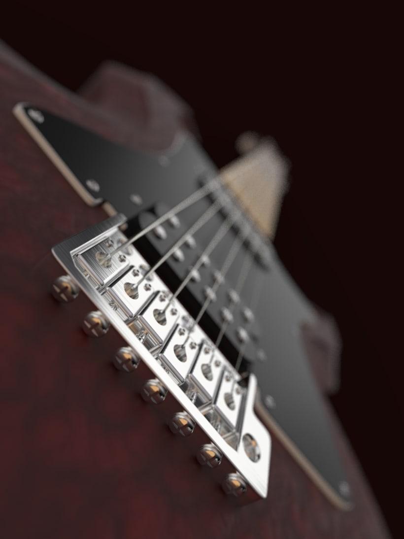 """Diseño original de guitarra """"El Toro"""" 2"""