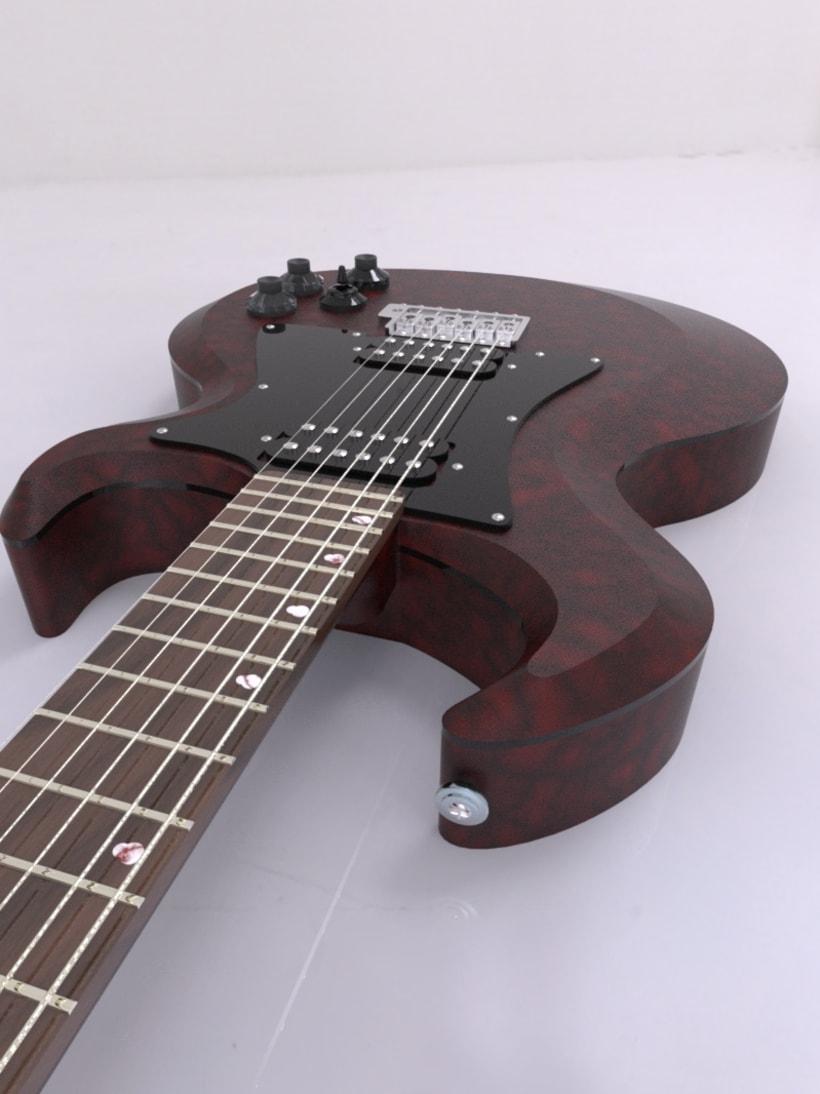 """Diseño original de guitarra """"El Toro"""" 6"""