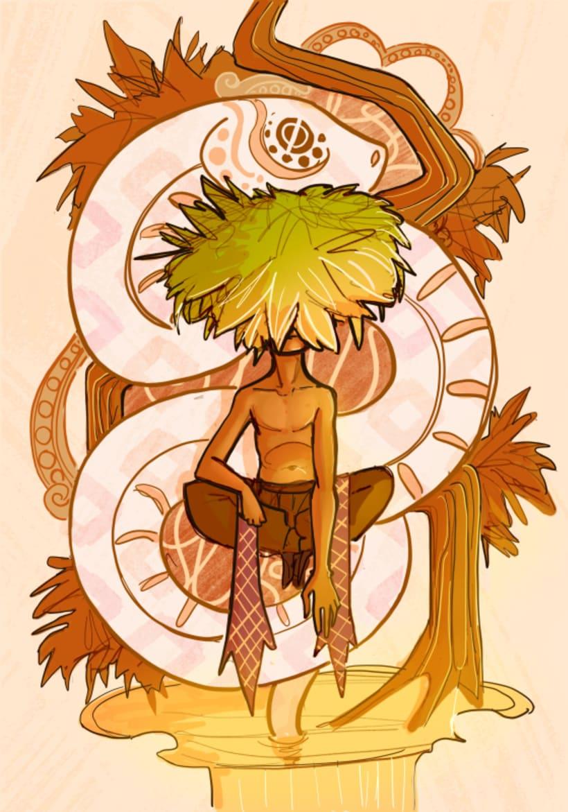 Men with Flowers I - Snake Spirit -1