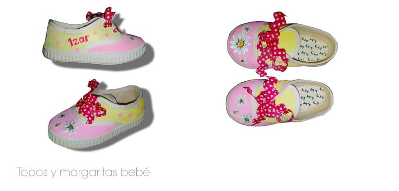 Zapatillas DIY para niña, pintanas a mano con pintura textil -1