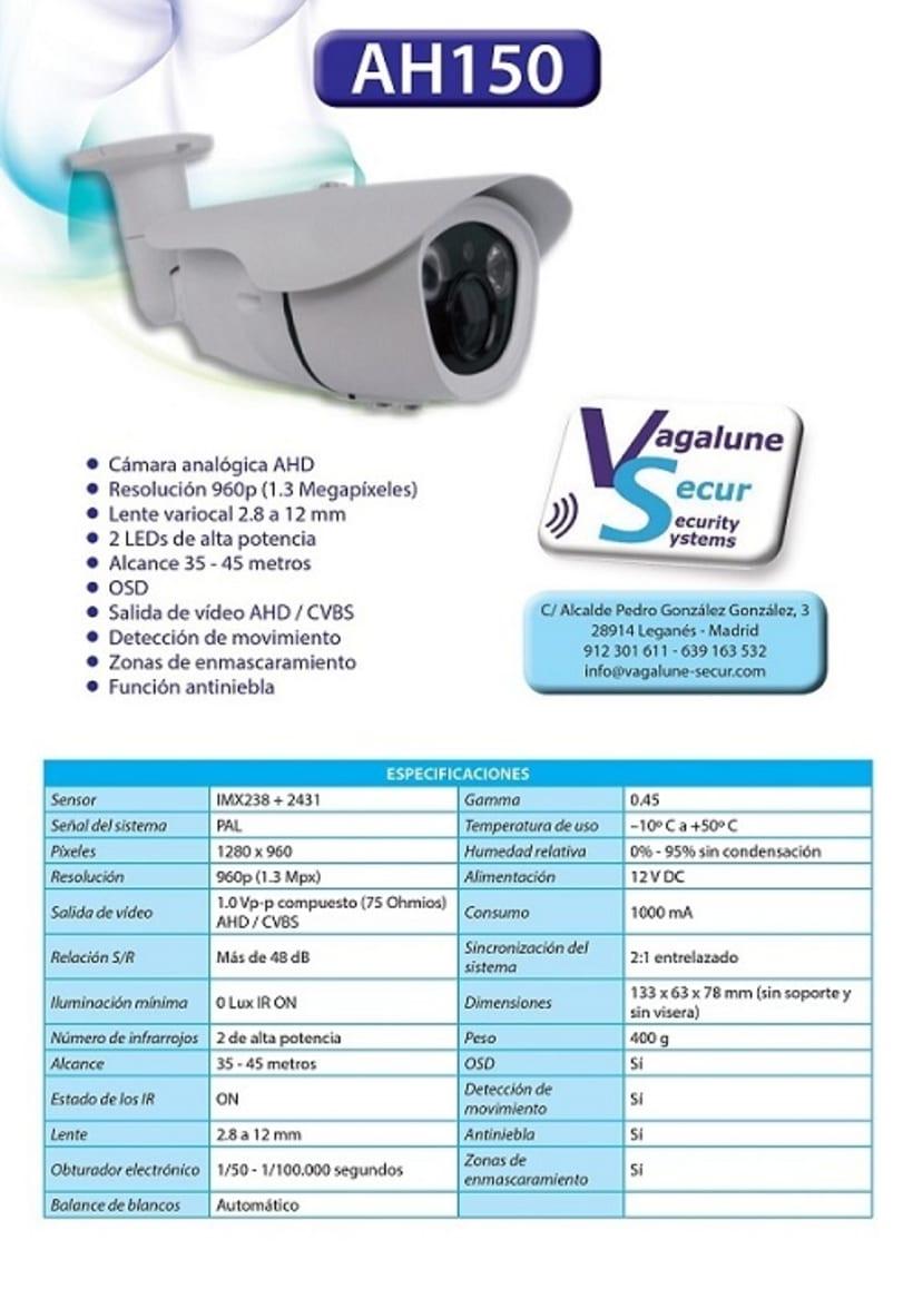 Ficha técnica Cámara AH150 - Vagalune Secur 0