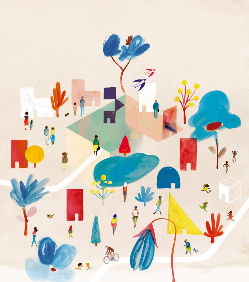 Ilustración portada revista Kireei 0
