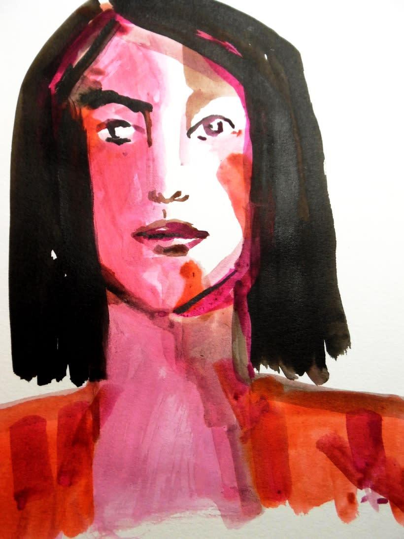 Retratos trazos de color  0
