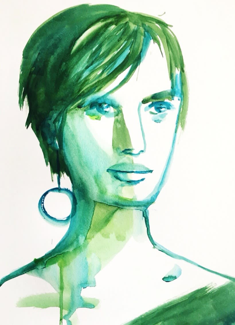 Retratos trazos de color  2