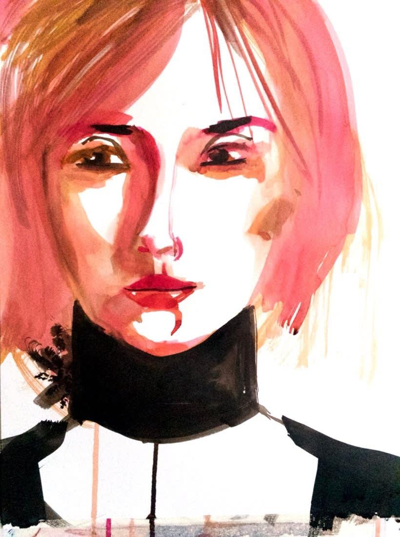 Retratos trazos de color  4