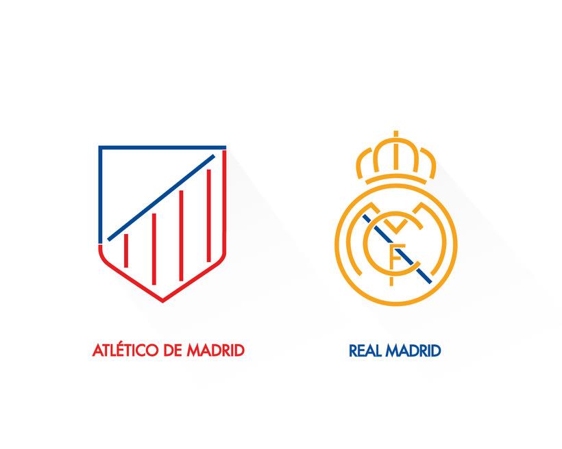 Rediseño del Atlético de Madrid y Real Madrid -1