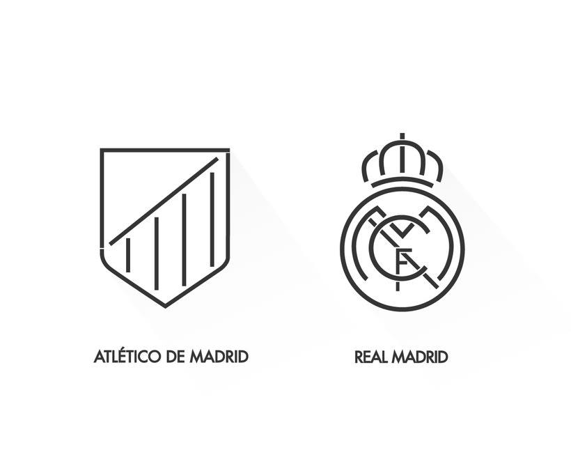 Rediseño del Atlético de Madrid y Real Madrid 0