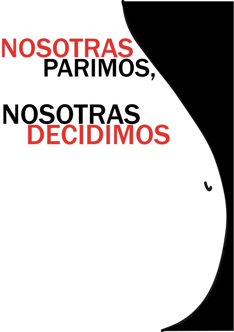 """Cartel """"Nosotras Decidimos"""" -1"""