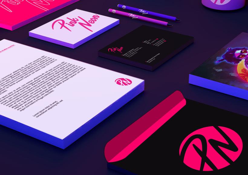 Pink Neon Studio. Proyecto Freelance. 2