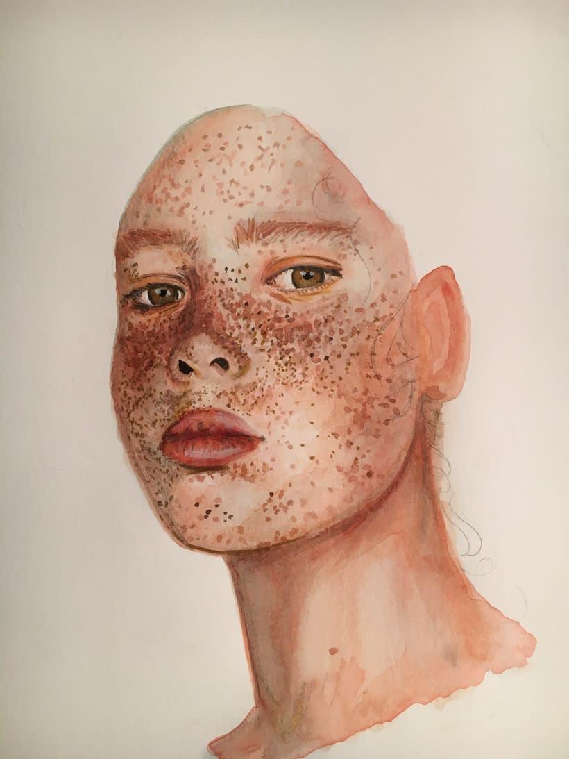 Mi Proyecto del curso: Retrato ilustrado en acuarela 5