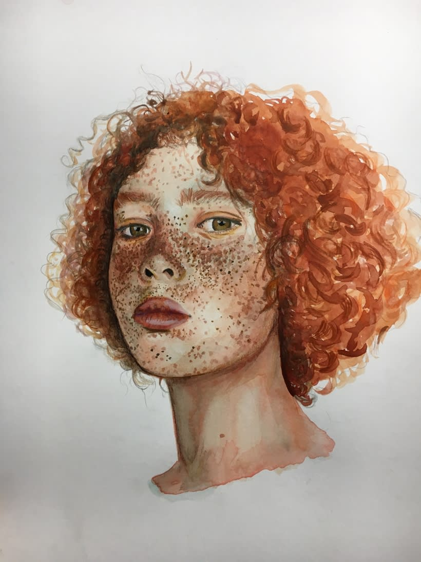 Mi Proyecto del curso: Retrato ilustrado en acuarela 6